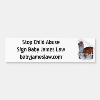 2childneglectsurvivor, Stop Child AbuseSign Bab... Car Bumper Sticker