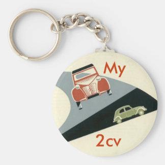 2cv, My Basic Round Button Key Ring