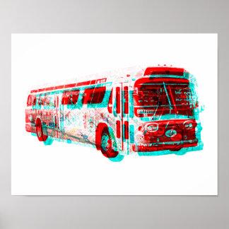 2D AC Transit Bus Old School Poster