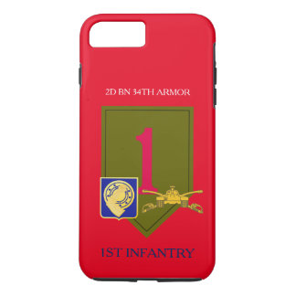 2D BN 34TH ARMOR 1ST INFANTRY iPHONE CASE