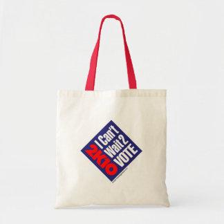 2K10 I Can t Wait 2 Vote Canvas Bag