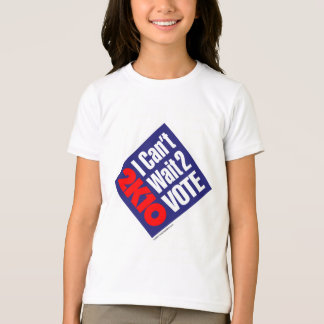 2K10 I Can't Wait 2 Vote T-Shirt