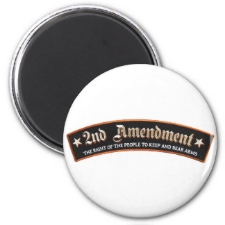 2nd amendment 6 cm round magnet
