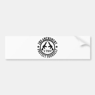 2nd Amendment AR15 Protect Yourself Black Bumper Sticker