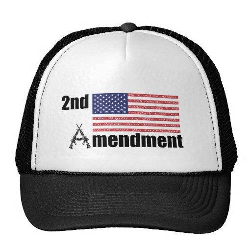 2nd Amendment AR Rifles A and Flag Hat