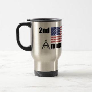 2nd Amendment AR Rifles A and Flag Stainless Steel Travel Mug