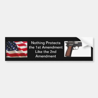 2nd Amendment Bumper Sticker (Black)