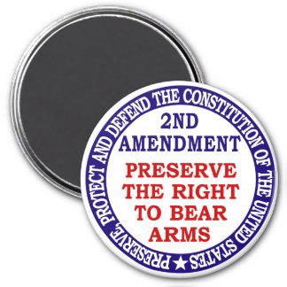 2nd Amendment Circle Keep Bear Arms Refrigerator Magnet