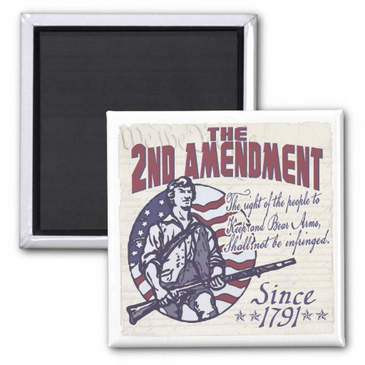 2nd Amendment Defends Us Shirts and Gifts Refrigerator Magnets