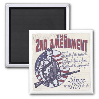 2nd Amendment Defends Us Shirts and Gifts Square Magnet