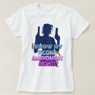 2nd Amendment Gun Rights Pink White Blue T-Shirt
