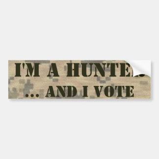 2nd Amendment Hunter and Voter Bumper Sticker