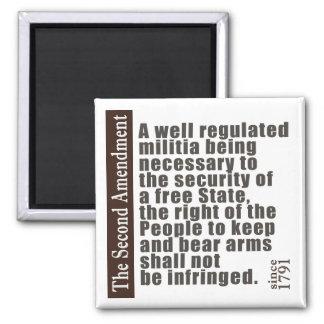 2nd Amendment Fridge Magnet