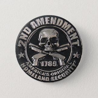 2nd Amendment Medal 6 Cm Round Badge