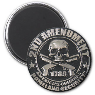 2nd Amendment Medal 6 Cm Round Magnet