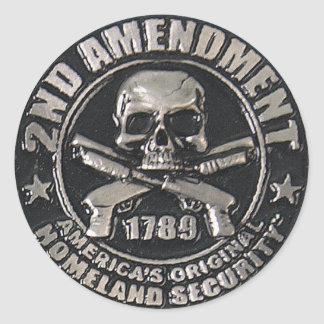 2nd Amendment Medal Classic Round Sticker