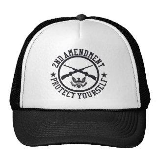 2nd Amendment Protect Yourself U.S. Custom Ink Trucker Hat