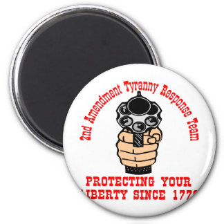 2nd Amendment Protecting Liberty Since 1776 6 Cm Round Magnet