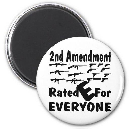 2nd Amendment Rated E For Everyone Refrigerator Magnet