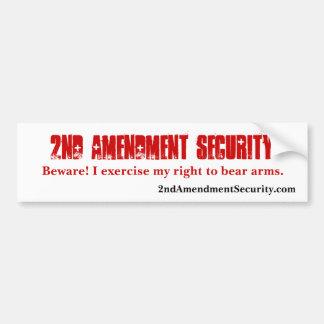 2nd Amendment Security Bumper Sticker