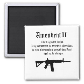 2nd Amendment Square Magnet