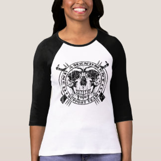 2nd Amendment Support Team Raglan Distressed T-Shirt
