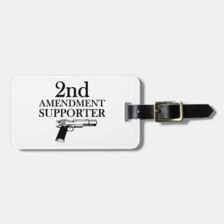 2nd AMENDMENT SUPPORTER - gun rights/constitution Luggage Tag
