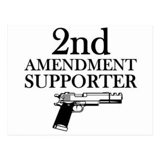 2nd AMENDMENT SUPPORTER - gun rights/constitution Postcard