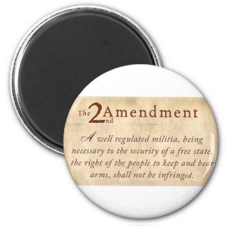 2nd Amendment Vintage 6 Cm Round Magnet