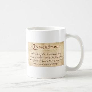 2nd Amendment Vintage Basic White Mug