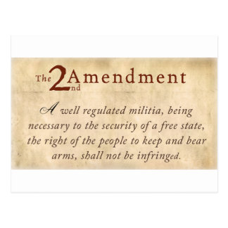 2nd Amendment Vintage Postcard
