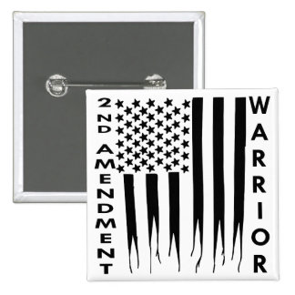 2nd Amendment Warrior 15 Cm Square Badge