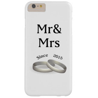 2nd anniversary matching Mr. And Mrs. Since 2015 Barely There iPhone 6 Plus Case