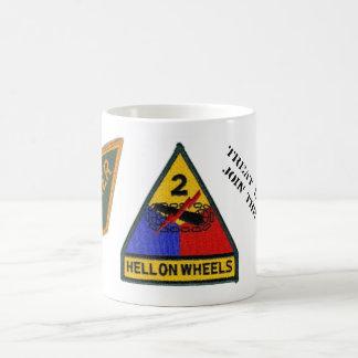2nd Armored Division Color change Tanker mug