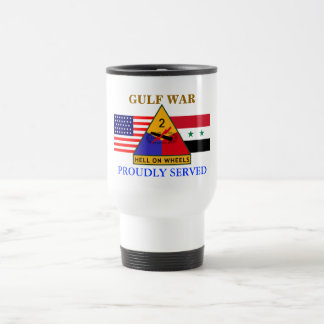 2ND ARMORED DIVISION GULF WAR TRAVEL MUG