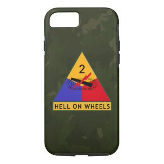 "2nd Armored Division ""Hell On Wheels"" Camo iPhone 7 Case"