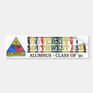 2nd Armored Division U of Southwest Asia Sticker Bumper Sticker