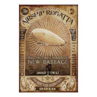 2nd Babbage Airship Regatta Poster