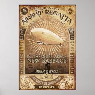 2nd Babbage Airship Regatta Poster