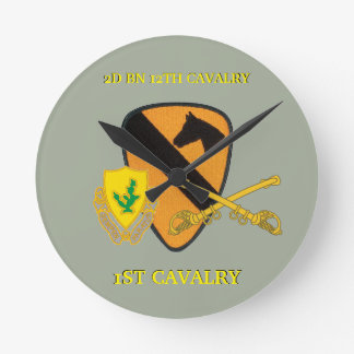 2ND BATTALION 12TH CAVALRY 1ST CAVALRY CLOCK