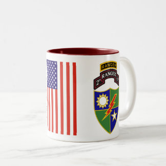 2nd Battalion - 75th Ranger w/Tab Two-Tone Mug