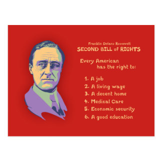 2nd Bill of Rights Postcard