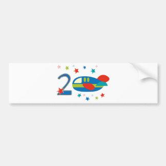 2nd Birthday Airplane Bumper Stickers