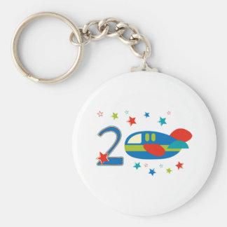 2nd Birthday Airplane Keychains