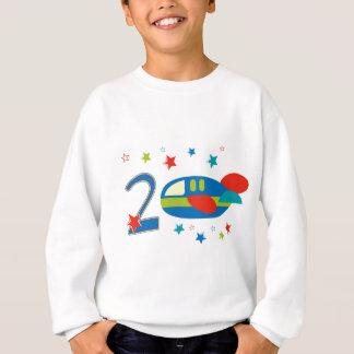 2nd Birthday Airplane Sweatshirt
