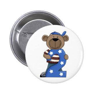 2nd. Birthday Bear Fun Pin Button