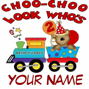 2nd Birthday Bear Train Personalized T Shirt