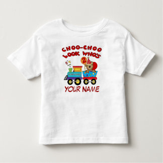 2nd birthday bear train personalized t-shirt