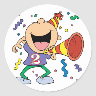 2nd Birthday Boy Round Sticker