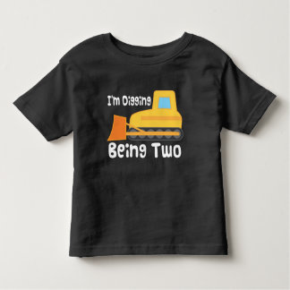 2nd Birthday Bulldozer Construction Truck Toddler Tshirts